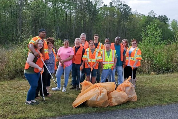 feridies 21 volunteers worked a total of 42 hours and filled 18 bags of trash