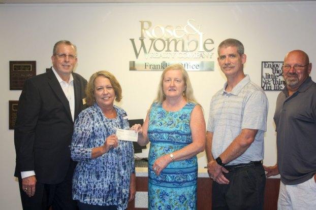 sedley baptist church rose & womble foundation donation