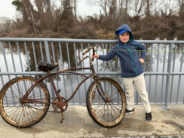 bicycle in blackwater river