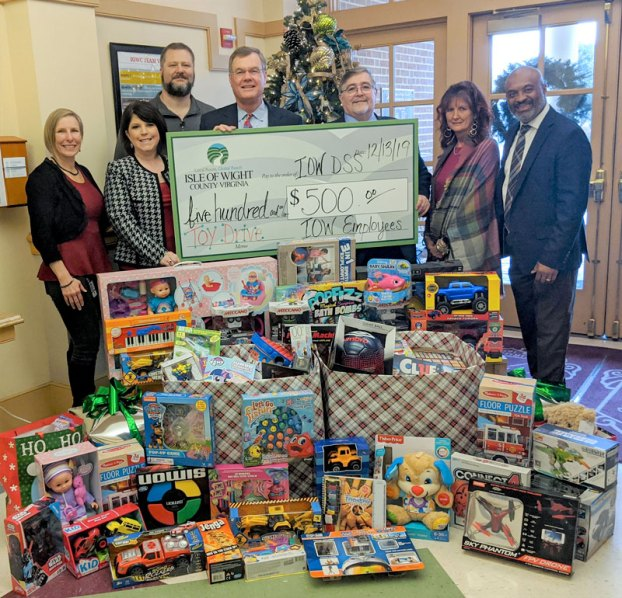 Isle of Wight County employee toy drive