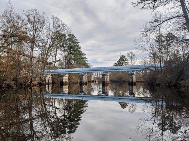 lake gaston pipeline crossing blackwater river