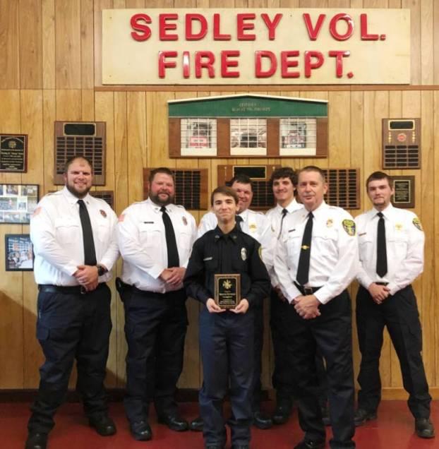 Sedley VFD junior firefighter of the year 2019