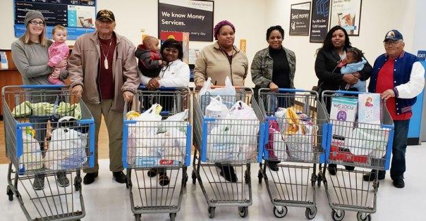 cheroenhaka tribe helps at Walmart
