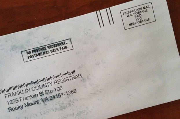 absentee ballot envelope